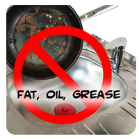 No grease in sink